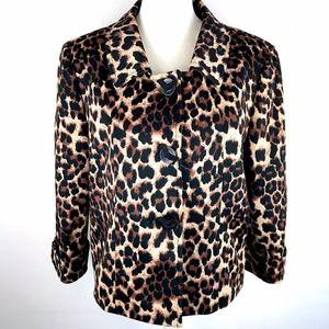 Tahari ASL |  Leopard Print Short Jacket